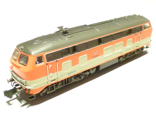 "Minitrix 16286 DB AG 218 137-8 ""Citybahn"" orange/grau"