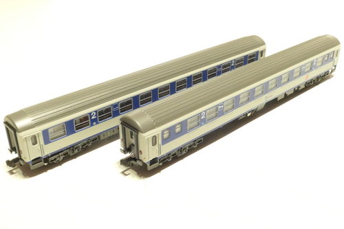 LS-Models 77053 ÖBB 2x lying dare gray/blue