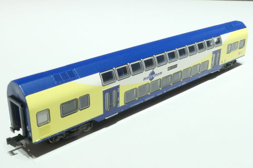 Minitrix 15947 DB/Metronom double-deck car